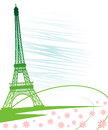 Eiffel tower in paris for travel design background illustrations Stock Photography