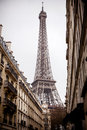 Eiffel tower paris view at rainy day Stock Images