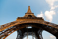 Eiffel tower paris wide angle photo of the Stock Photography