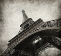 Eiffel tower photo in grunge style paper texture Royalty Free Stock Images
