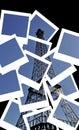 Eiffel tower - Polaroid postcard collage Royalty Free Stock Photo