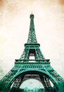 Eiffel Tower - retro postcard styled Royalty Free Stock Photo
