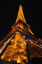 Eiffel tower seen by night Royalty Free Stock Image