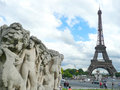Eiffel Tower seen from Trocadero Stock Photo