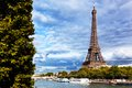 Eiffel Tower and Seine River, Paris, France Royalty Free Stock Photo