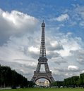 Eiffel tower the in september Stock Image