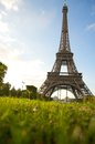 Eiffel tower during a sunny summer Stock Image