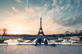Eiffel tower at sunrise view from trocadero Stock Photos