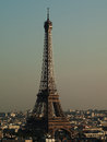 Eiffel Tower During Sunset Stock Images