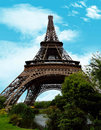 Eiffel tower the tour is an iron lattice located on the champ de mars in paris france it was named after the engineer Stock Image