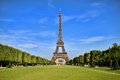 Eiffel Tower with vibrant blue sky Royalty Free Stock Photo