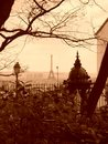 Eiffel Tower view from Montmartre Royalty Free Stock Image
