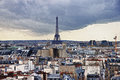 Eiffel tower view from the from the pompidou centre paris Royalty Free Stock Images