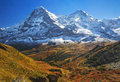 Eiger and Monch Royalty Free Stock Photo