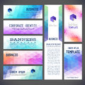 Eight abstract design banners vector templates, Royalty Free Stock Photo