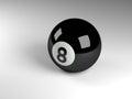Eight ball 3d render