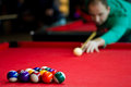 Eight balls billiards Royalty Free Stock Photos