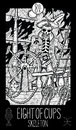 Eight of cups. Pirate Skeleton