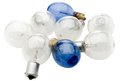 Eight light bulbs Stock Photos