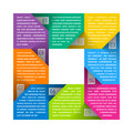 Eight parts cycle diagram template illustration Royalty Free Stock Photography