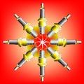 Eight Spark Plugs