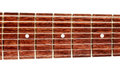 Eight strings guitar fretboard electric string isolated on white Royalty Free Stock Photo