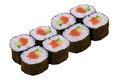 Eight sushi rolls Royalty Free Stock Photos