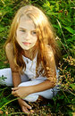Eight years old girl Royalty Free Stock Photos