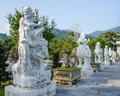 Eighteen arhat statues at linh ung pagoda in danang vietnam february were carved from white stone by artisan nguyen viet minh Royalty Free Stock Image