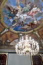 Eighteenth century fresco on the ceiling. Royalty Free Stock Photo