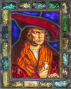 Eighteenth century stained glass window Royalty Free Stock Photography