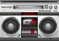Eighties boom box vector illustration Stock Photo
