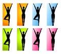 Eignung-Yoga-oder Tanz-Ränder Lizenzfreie Stockfotos