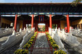 Eijing confucian temple beijing is located in beijing dongcheng district guozijian street built in built in is the chinese yuan Stock Photo