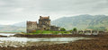 Eilean donan castle on a cloudy day scotland uk Royalty Free Stock Photography