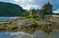 Eilean donan castle scotland the famous a scottish icon stands in a defensive position at the junction of three sealochs long long Royalty Free Stock Photos