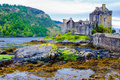 Eilean Donan Castle in Scotland, UK Royalty Free Stock Photo