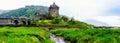 Eilean Donan Castle in Scotland, UK Royalty Free Stock Photo