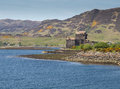 Eilean donan castle scotland view of the medieval on the water of loch duich dramatic scenery of the mountains of the scottish Royalty Free Stock Photography