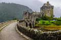 Eilean donan castle scotland western highlands of uk Royalty Free Stock Photos