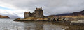 Eilean donan castle view scenic landscape beginning march Stock Photo