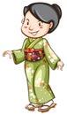 Ein asiat der ein kleid trägt Lizenzfreies Stockfoto