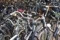 Ein Meer der Fahrräder Lizenzfreies Stockfoto