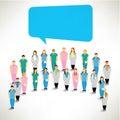 Eine große gruppe von medizinischem team gather together Lizenzfreie Stockbilder