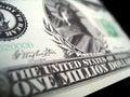 Eine Million Dollar Jahrtausendrechnung Lizenzfreies Stockfoto