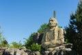 Eine Statue von Haupt?Sitting Bull? Lizenzfreies Stockbild