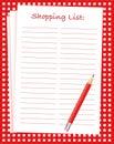 Einkaufsliste stock vektoren und abbildungen