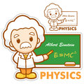 Einstein, the father of physics Stock Image