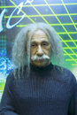 Einstein s wax figure in gulangyu island china Royalty Free Stock Photo