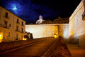 Eivissa Ibiza town with night moon castle entrance Royalty Free Stock Photos
